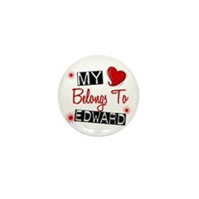 My Heart Belongs To Edward Mini Button (100 pack)