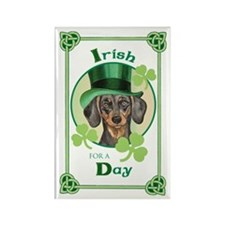 St. Patrick Dachshund Rectangle Magnet