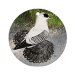 Swallow Pigeon In Field Ornament (Round)
