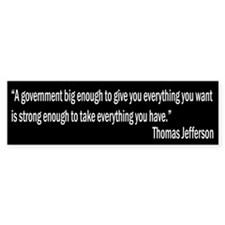 Jefferson quote Bumper Sticker (10 pk)