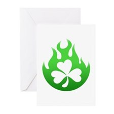 flame and shamrock4 Greeting Cards (Pk of 20)