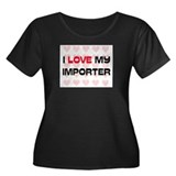 I Love My Importer Women's Plus Size Scoop Neck Da