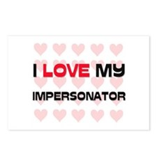 I Love My Impersonator Postcards (Package of 8)