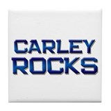 carley rocks Tile Coaster