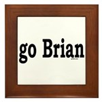 go Brian Framed Tile