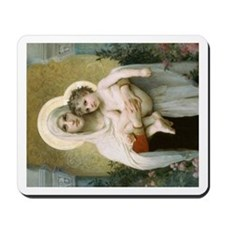 Madonna of the Roses Mousepad