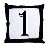 """Algerian - Number 1"" Throw Pillow"