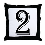 """Algerian - Number 2"" Throw Pillow"