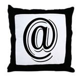 """Algerian - Symbol @"" Throw Pillow"