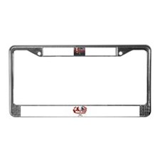 License Plate Frame/US_Can Flags