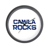 camila rocks Wall Clock