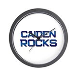 caiden rocks Wall Clock