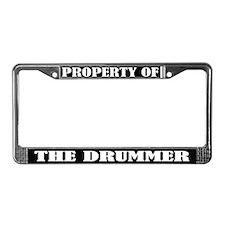 Property Of The Drummer License Frame