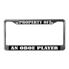 Property Of An Oboe Player License Frame