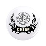 "Fire Chief Tattoo 3.5"" Button (100 pack)"