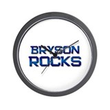 bryson rocks Wall Clock