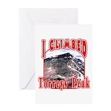 I Climbed Torreys Peak Greeting Card