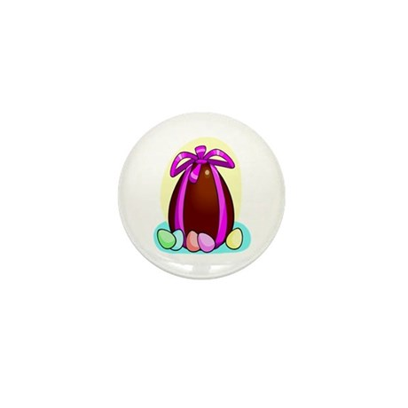 Chocolate Easter Egg Mini Button