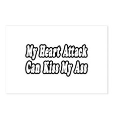 """Heart Attack...Kiss My Ass"" Postcards (Package of"