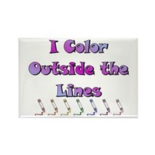 I Color Outside the Lines Rectangle Magnet