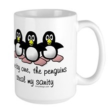One by one, the penguins Mug