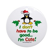 I'm Cute! Ornament (Round)