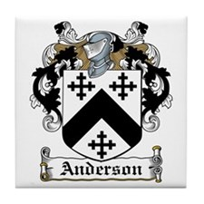 Anderson Coat of Arms Tile Coaster