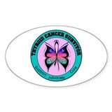 Thyroid Cancer Survivor Oval Decal