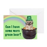 Shih Tzu St. Patrick's Day Greeting Card