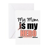 EndometrialCancerHeroMom Greeting Cards (Pk of 10)