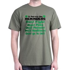St. Patricks Day Reminders T-Shirt