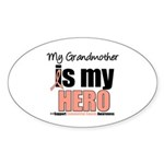 EndometrialCancerHeroGrandmother Sticker (Oval 10