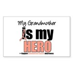 EndometrialCancerHeroGrandmother Sticker (Rectangl