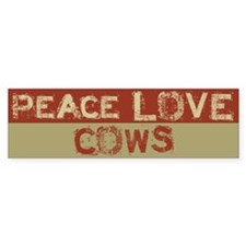 Peace Love Cows Bumper Bumper Sticker