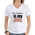 EndometrialCancerHeroDaughter Women's V-Neck T-Shi