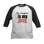 EndometrialCancerHeroDaughter Kids Baseball Jersey