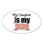 EndometrialCancerHeroDaughter Oval Sticker (10 pk)
