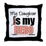 EndometrialCancerHeroDaughter Throw Pillow