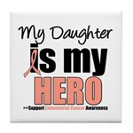 EndometrialCancerHeroDaughter Tile Coaster