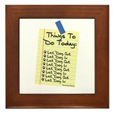 To Do List Framed Tile
