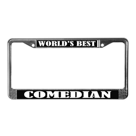 World's Best Comedian License Plate Frame