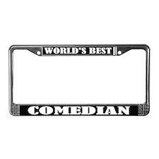 World's Best Comedian License Plate Frame