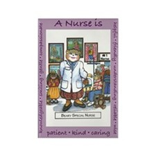 School Nurse Rectangle Magnet (100 pack)