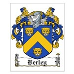 Berley Coat of Arms Small Poster