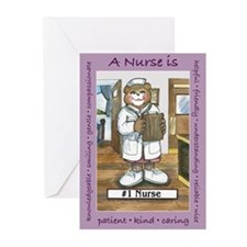 Female Nurse Greeting Cards (Pk of 20)