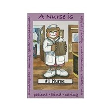 Female Nurse Rectangle Magnet