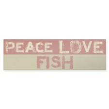 Peace Love Fish Bumper Bumper Sticker
