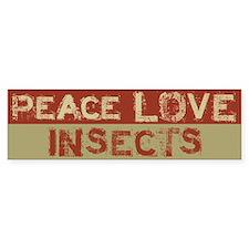 Peace Love Insects Bumper Bumper Sticker