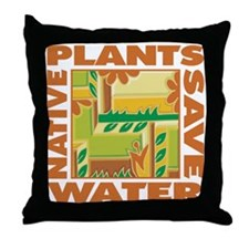 Native Plant Landscaping Throw Pillow