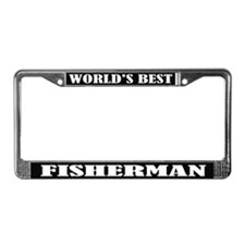 World's Best Fisherman License Plate Frame
